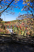 Whitewater Falls in Western North Carolina with Fall Color