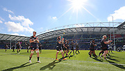 USA players applaud the crowd after the Rugby World Cup 2015 match between Samoa and USA at the Brighton Community Stadium, Falmer, United Kingdom on 20 September 2015.