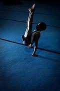 Belo Horizonte, 12 de agosto de 2010..Ensaio do Minas Tenis Clube, como formacao de novos atletas para as Olimpiadas de 2016...Na foto, o atleta da ginastica olimpica Matheus Gabriel de Oliveira Moreira de 13 anos...Foto: Bruno Magalhaes / Nitro