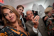 TRACEY EMIN; JAMES MACAUSLAN; NICKY HASLAM, Party at the home of Amanda Eliasch in Chelsea after the opening of As I Like it. A memory by Amanda Eliasch and Lyall Watson. Chelsea Theatre. Worl's End. London. 4 July 2010<br /> <br />  , -DO NOT ARCHIVE-© Copyright Photograph by Dafydd Jones. 248 Clapham Rd. London SW9 0PZ. Tel 0207 820 0771. www.dafjones.com.