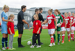 Pre-match hand-shake - Mandatory by-line: Paul Knight/JMP - 16/09/2018 - FOOTBALL - Stoke Gifford Stadium - Bristol, England - Bristol City Women v Manchester City Women - Continental Tyres Cup