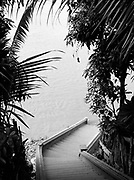 Stairs to the Mekong River.