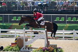 Andrade Emanuel, VEN, Hardrock Z<br /> owner of the horse of Jerome with arms in the air<br /> Olympic Games Rio 2016<br /> © Hippo Foto - Dirk Caremans<br /> 14/08/16