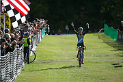 Caroline Mani wins the Elite Women's race at the Ellison Park Cyclocross Festival in Rochester on Saturday, October 11, 2014.