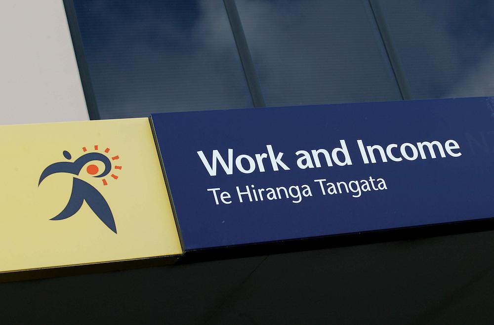 WINZ signage, logo, New Zealand, May 01, 2007. Credit:SNPA / Rob Tucker