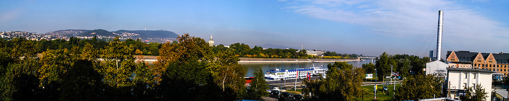Budapest, Hungary. Panorama view with Danube and Margaret Island.