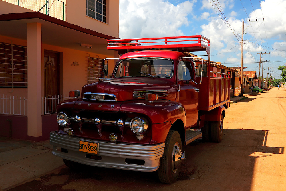 Red Ford in Las Canas, Artemisa Province, Cuba.