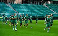 29/07/14<br /> LEGIA WARSAW TRAINING<br /> PEPSI ARENA - WARSAW<br /> The Legia Warsaw squad are put through their paces at the Pepsi Arena