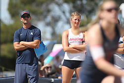 April 7, 2018 - Tucson, AZ, U.S. - TUCSON, AZ - APRIL 07: Arizona Wildcats head coach Steve Walker watches a match during a college beach volleyball match between the Colorado Mesa Mavericks and the Arizona Wildcats on April 07, 2018, at Bear Down Beach in Tucson, AZ. Arizona defeated Colorado Mesa 4-1. (Photo by Jacob Snow/Icon Sportswire (Credit Image: © Jacob Snow/Icon SMI via ZUMA Press)