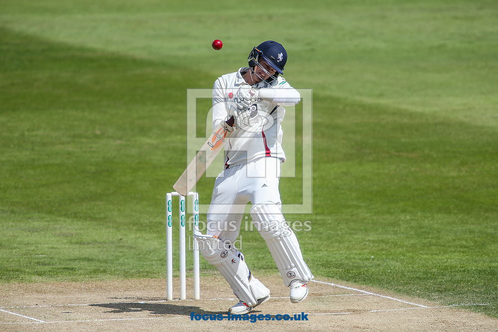 Matt Hunn of Kent ducks under a high delivery during the Specsavers County C'ship Div Two match at the County Ground, Northampton<br /> Picture by Andy Kearns/Focus Images Ltd 0781 864 4264<br /> 16/05/2016