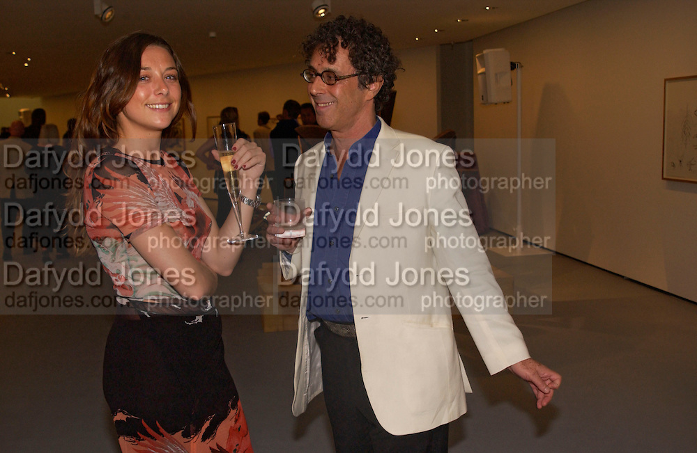 Laura Tolede and Peter Adler, Opening of Albion Gallery hosted by Michael Hue Williams and Cartier with an exhibition by Mark di Suvero,  Battersea. 13 June 2004. ONE TIME USE ONLY - DO NOT ARCHIVE  © Copyright Photograph by Dafydd Jones 66 Stockwell Park Rd. London SW9 0DA Tel 020 7733 0108 www.dafjones.com