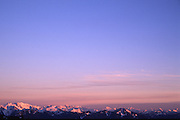North Cascade range with pink sunrise