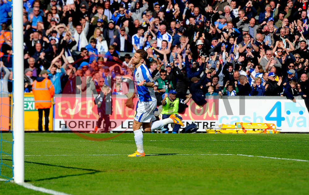 Matt Taylor of Bristol Rovers celebrates his goal  - Mandatory by-line: Joe Meredith/JMP - 23/04/2016 - FOOTBALL - Memorial Stadium - Bristol, England - Bristol Rovers v Exeter City - Sky Bet League Two