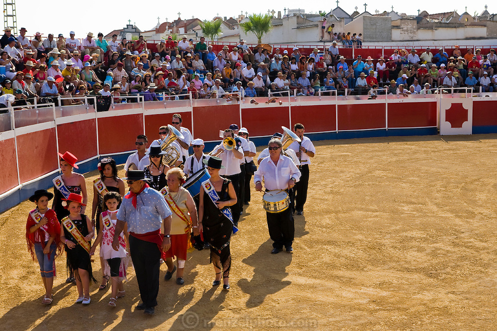 A procession marks the beginning of the bullfighting festival in which bull-fighter Oscar Higares performed at Campos del Rio, near Murcia, Spain. (Oscar Higares is featured in the book What I Eat: Around the World in 80 Diets.) MODEL RELEASED.