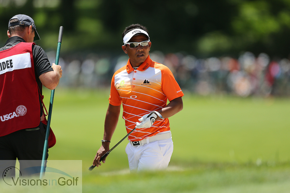 Thongchai Jaidee<br /> on the second day at the US Open Championship, Merion East, PA. USA 2013 <br /> Picture Credit:  Mark Newcombe / visionsingolf.com