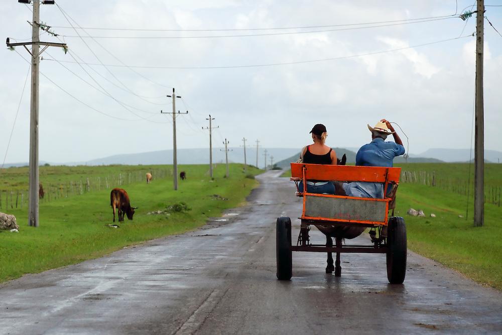 Horse and cart near Playa Blanca, Holguin, Cuba.