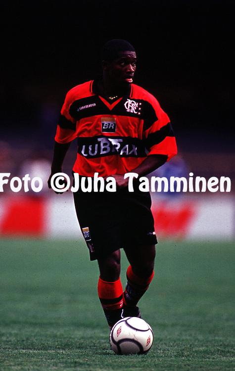 01.04.2000, Maracan< Stadium, Rio de Janeiro, Brazil. Rio de Janeiro state championship, Flamengo v Olaria..Beto - Flamengo.Full name: Joubert Araoejo Martins.©JUHA TAMMINEN