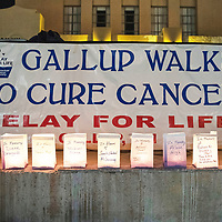 Luminaria's lined up at Relay for Life Friday, June 21 at McKinley County Courthouse Square in Gallup.