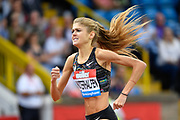 Konstanze Klosterhalfen (GER) on her way to winning the 1 Mile Women's Millicent Fawcett Race in a Meeting Record, German National Record and a Personal Best  time of 4.21.11 during the Birmingham Grand Prix, Sunday, Aug 18, 2019, in Birmingham, United Kingdom. (Steve Flynn/Image of Sport)