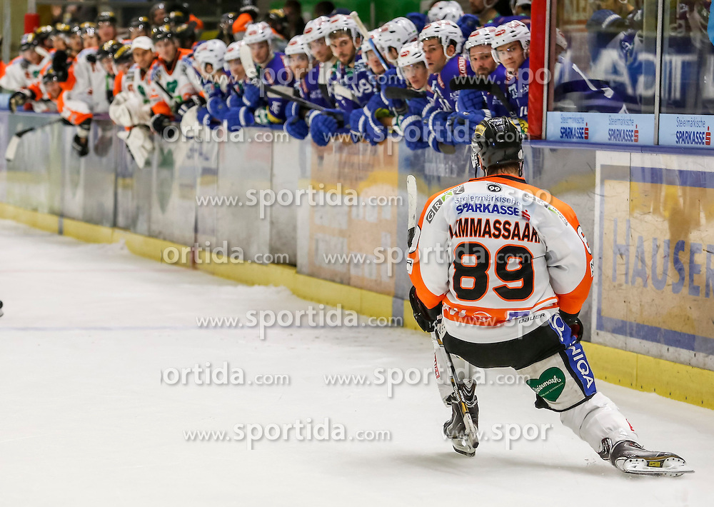 23.10.2014, Eisstadion Liebenau, Graz, AUT, EBEL, Moser Medical Graz 99ers vs EC VSV, 13. Runde, im Bild Petri Lammassaari (Moser Medical Graz 99ers) // Petri Lammassaari (Moser Medical Graz 99ers) during the Erste Bank Icehockey League 13th Round match between Moser Medical Graz 99ers and EC VSV at the Ice Stadium Liebenau, Graz, Austria on 2014/10/23, EXPA Pictures © 2014, PhotoCredit: EXPA/ Erwin Scheriau