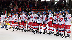 13.04.2019, Keine Sorgen Eisarena, Linz, AUT, Euro Hockey Challenge, Österreich vs Tschechien, Länderspiel, im Bild Team Tschechien gewinnt in Linz // during the international friendly match between Austria and Czech Republic, as part of the Euro Hockey Challenge at the Keine Sorgen Eisarena in Linz, Austria on 2019/04/13. EXPA Pictures © 2019, PhotoCredit: EXPA/ Reinhard Eisenbauer