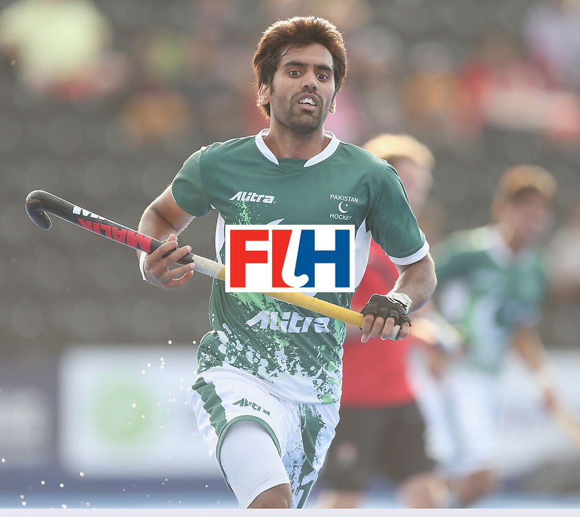 LONDON, ENGLAND - JUNE 16:  Ali Shan of Pakistan  during the Hero Hockey World League semi final match between Pakistan and Canada at Lee Valley Hockey and Tennis Centre on June 16, 2017 in London, England.  (Photo by Alex Morton/Getty Images)