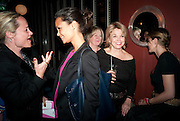 THANDIE NEWTON; BETTE MIDLER; CRISTINA SORRELL, Party after the opening of  A Memory, A Monologue, A Rant, and A Prayer  at Century Club.  Restless Buddha's fundraising event helping women around the world. All proceeds raised from the sale of tickets go to Women for Women International, V-Day and Domestic Violence Intervention Project. 26 March 2012