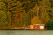 Boathouse on Lake of Bays, Near Dorset, Ontario, Canada