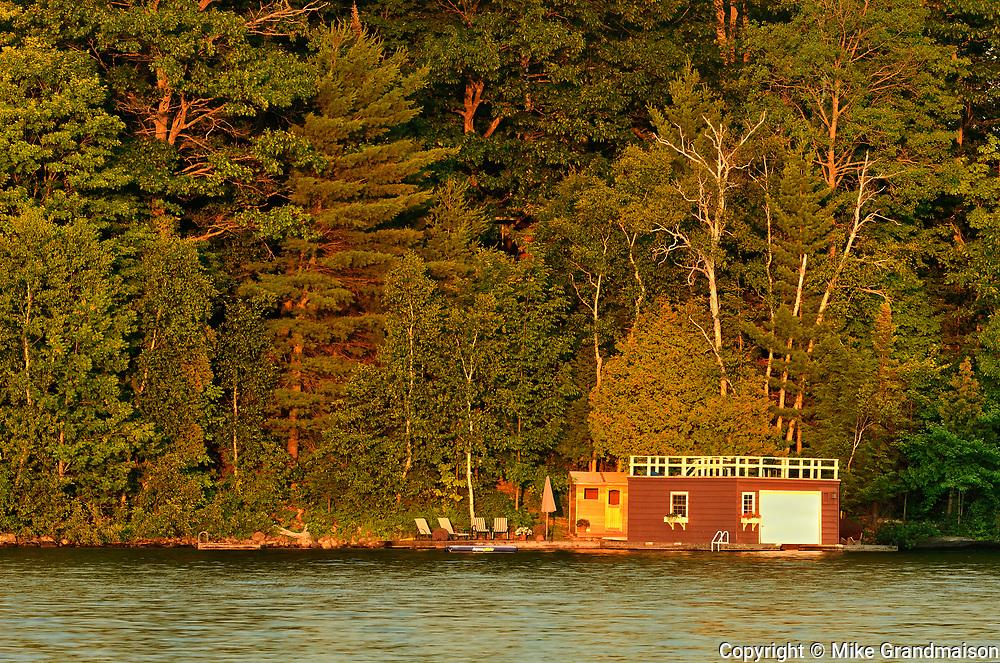 Boathouse on Lake of Bays, Near Dorset, Ontario, Canada