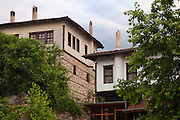 Original old houses in architecture reserve Melnik