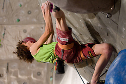 Adam Ondra of Czech republic during Final IFSC World Cup Competition in sport climbing Kranj 2010, on November 14, 2010 in Arena Zlato polje, Kranj, Slovenia. (Photo By Vid Ponikvar / Sportida.com)