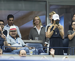 September 6, 2017 - New York, New York, United States - New York, NY USA - September 6, 2017: Uma Thurman attends match between Rafael Nadal of Spain & andrey Rublev of Russia at US Open Championships at Billie Jean King National Tennis Center  (Credit Image: © Lev Radin/Pacific Press via ZUMA Wire)