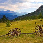 Abandoned wagon, Rocky Mountain National Park, Colorado