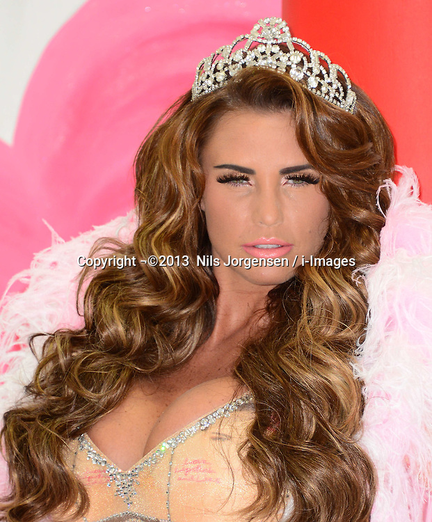 Katie Price launches her latest autobiography, 'Love Lipstick and Lies' at The Worx Studios, Parsons Green, London, UK. Tuesday, 22nd October 2013. Picture by Nils Jorgensen / i-Images