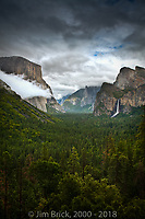 Storm clouds over Yosemite Valley from Tunnel View.