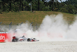 Romain Grosjean (FRA) Haas F1 Team VF-16 crashed out of the race.<br /> 02.10.2016. Formula 1 World Championship, Rd 16, Malaysian Grand Prix, Sepang, Malaysia, Sunday.<br /> Copyright: Photo4 / XPB Images / action press
