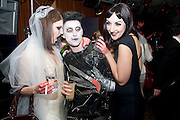 BEN GRIMES; HENRY HOLLAND; LILY BARKER, Browns Focus Halloween party. Shepherds Bush pavilion. Shepherds Bush. London. 30 October 2009