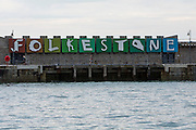 Patrick Tuttofuoco's Folkestone letters sculpture displayed on Folkestone Harbour Arm originally as part of the Triennial Arts Festival in 2008, which has now become part of the Folkestone Artworks, a permanent art collection in the town.  (photo by Andrew Aitchison / In pictures via Getty Images)