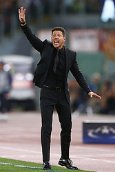 September 12, 2017 - Rome, Italy - Atletico de Madrid coach Diego Simeone  during the UEFA Champions League Group C football match between AS Roma and Atletico Madrid on September 12, 2017 at the Olympic stadium in Rome. (Credit Image: © Matteo Ciambelli/NurPhoto via ZUMA Press)