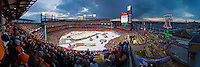 Nearly 47,000 hockey fans pack Citizens Bank Park in Philadelphia to see the Flyers take on the New York Rangers in the 2012 NHL Winter Classic.