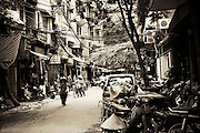 city street life Hanoi