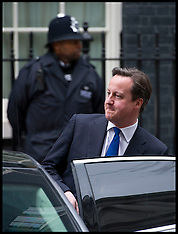 MAR 20 2013 David Cameron Leaves for PMQ's