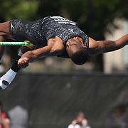 Erik Kynard, USA, in action in the Men's High Jump  during the Diamond League Adidas Grand Prix at Icahn Stadium, Randall's Island, Manhattan, New York, USA. 14th June 2014. Photo Tim Clayton