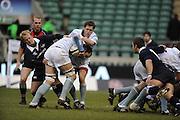 Twickenham, GREAT BRITAIN,  Cambridges' Scrum half Douglas ROWE and No.8, Trevor BOYNTON collide, during the 2008 Varsity Rugby match Oxford vs Cambridge played at the RFU Stadium Twickenham, Surrey on  Thursday, 11/12/2008[Photo, Peter Spurrier/Intersport-images]