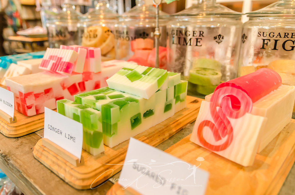 Handmade soaps are among the gift items offered at Mississippi Gift Company in Greenwood, Miss. (Photo by Carmen K. Sisson)