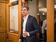 22 AUGUST 2019 - DES MOINES, IOWA: BETO O'ROURKE (D-TX), walks into a gun safety roundtable he hosted in the Iowa State Capitol in Des Moines. He is back on the campaign trail seeking the Democratic nomination for the US Presidency after pausing his campaign when a white supremacist massacred 22 people in El Paso, TX, O'Rourke's hometown. Iowa traditionally hosts the first selection event of the presidential election cycle. The Iowa Caucuses are Feb. 3, 2020.       PHOTO BY JACK KURTZ