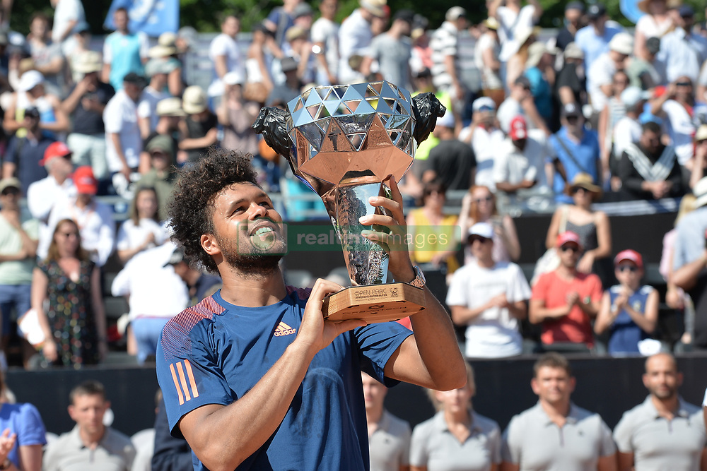 May 27, 2017 - Lyon - Parc Tete D'Or, France - Joie de Jo-Wilfried Tsonga (Credit Image: © Panoramic via ZUMA Press)