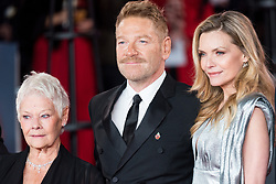 © Licensed to London News Pictures. 02/11/2017. London, UK. JUDI DENCH, KENNETH BRANAGH and MICHELLE PFEIFFER attends the world film premiere of Murder On The Orient Express <br /> Photo credit: Ray Tang/LNP