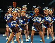The Dazzlers cheer squad compete at the Sharp International state cheer competition on May 6.