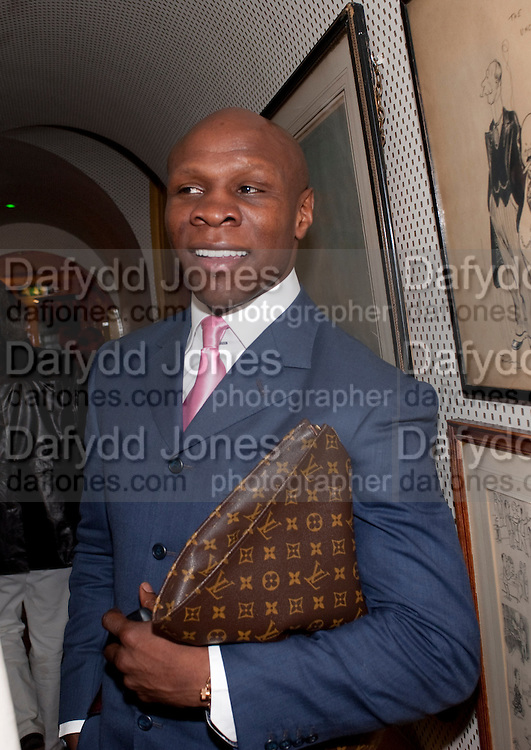CHRIS EUBANK, PARTY FOR BLOW BY BLOW BY DETMAR BLOW AND TOM SYKES. ANNABEL'S. BERKELEY SQ. LONDON. 21 SEPTEMBER 2010. -DO NOT ARCHIVE-© Copyright Photograph by Dafydd Jones. 248 Clapham Rd. London SW9 0PZ. Tel 0207 820 0771. www.dafjones.com.